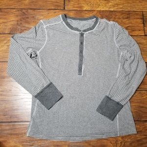 Lululemon Long Sleeve Henley Shirt